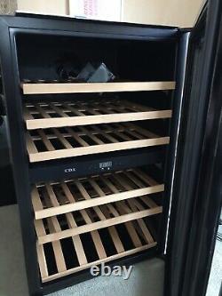CDA FWV901BL 55 Bottle Integrated Wine / Bottle Cooler in Black