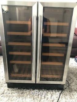 CDA Wine Cooler Double Door Two Temperature Zones 36 Bottles