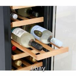 CDA Wine Cooler Fridge 30cm 20 Bottles Drinks FWC304SS Black & Stainless Steel