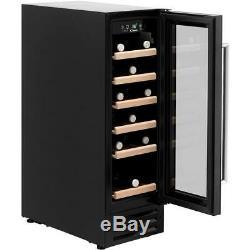 Candy CCVB-30 Integrated Compressor Wine Cooler Black 19 Bottles 6 Shelves