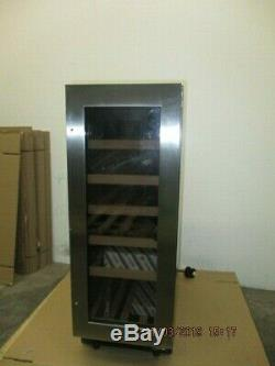 Caple WI3123 19 Bottle Built-In Stainless Steel/Glass Wine Cooler Silver 09490
