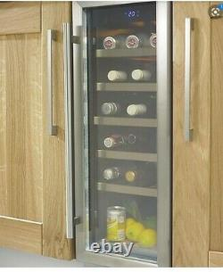 ^ Cata WC300 Stainless steel effect 18 bottles Wine cooler Kitchen Home 1321