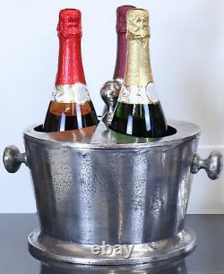 Champagne Wine Bucket Metal Bar Cooler Ice Bucket 3 Bottle Section With LID
