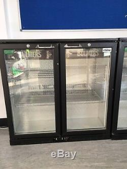 Commercial Double 2 Door Sliding Bottle Display Cooler Fridge Chiller Beer Wine