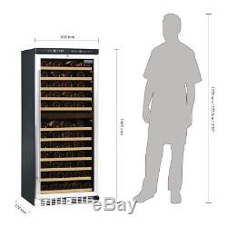 Commercial Polar Dual Zone Wine Cooler 92 Bottles Hinged