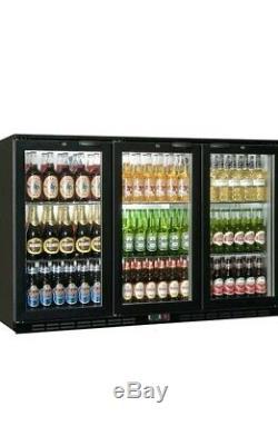 Commercial Triple 3 Door Bar Bottle Display Cooler Fridge Beer Wine