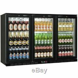 Commercial Triple 3 Door Bar Bottle Display Cooler Fridge Beer Wine Holds 270