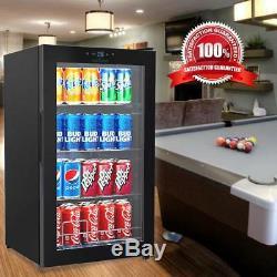 Compact Beverage Fridge Cooler Wine Bottle & Can Beverage Chilling Refrigerator