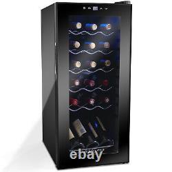 Compressor Wine Cooler, 53 Liters Can Hold 18 Bottles, 220V(Black)