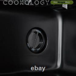Cookology CWC14BK 48cm Wine Cooler, 14 Bottles in Black