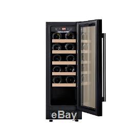 Cookology CWC300BK Black Wine Cooler 20 Bottle 30cm Undercounter Fridge