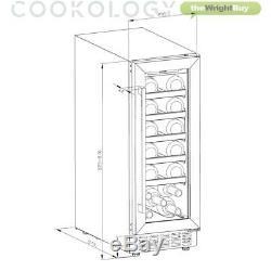 Cookology CWC300WH White Glass Wine Cooler, 20 Bottle 30cm Undercounter Fridge