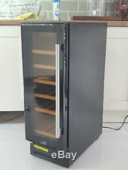 Cookology CWC301BK Black Glass Wine Cooler 20 Bottle 30cm Undercounter Fridge