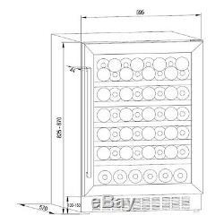 Cookology CWC601BK Black Glass 60cm Wine Cooler, 54 Bottle Undercounter Cabinet