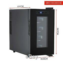 Cooks Professional 21L 8 Bottle Wine Cooler Mini Drinks Beer Fridge Refrigerator