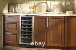 Danby, 15 Inch Black Built-in Wine Cooler with 34-Bottle Capacity, DWC1534BLS