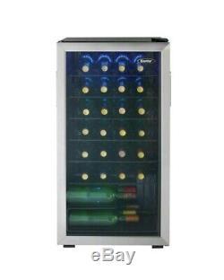 Danby 36 Bottle Wine Cooler Wine Fridge Reversible Tempered Glass Door