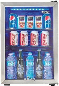 Danby 95-Can 2.6 Cu. Ft. Free-Standing Beverage Center Can Cooler Wine Bottle
