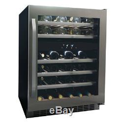 Danby Compact 46 Bottle Dual Zone Wine Fridge Freestanding in Stainless Steel