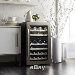 Danby DWC114KD1BSS, 38 Bottle Freestanding, Dual Zone Wine Cooler in Stainless