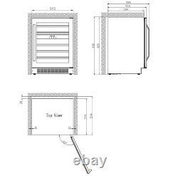 Danby DWC134KD1BSS, 46 Bottle Freestanding, Dual Zone Wine Cooler in Stain Steel