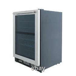 Digital Dual Zone Wine Cooler Fridge Stainless Steel 44 Bottle LED Refrigerator