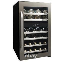Dual Zone 38 Bottle Wine Cooler 114L Freestanding in Stainless Steel, Danby