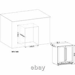Dual Zone Built In / Freestanding Compressor Wine Cooler Fridge 18 Bottle 55 Can