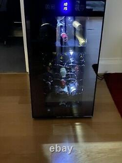 Dual Zone Wine Cooler Fridge 18 Bottles Touch Display With Blue LED Lights Quiet