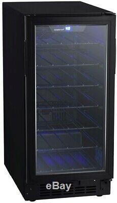 EdgeStar BWR301BL 15 Inch Wide 30 Bottle Built-In Single Zone Wine Cooler with
