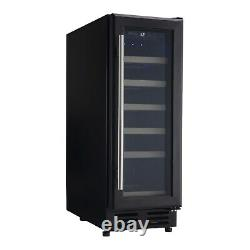 ElectriQ 30cm Wide 18 Bottle Wine Cooler Black