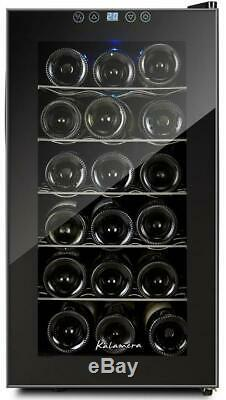 Electric Wine Cooler Cabinet Touch Screen Refrigerator 48L 18 Bottles Class A