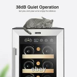 Elegant 12 Inch Wine Cooler, 18 Bottle Super Quiet 12 Inch 18 Bottles