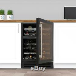 Essentials UBWC600BK Built In Under Counter Wine Cooler Dual Zone 46 Bottles