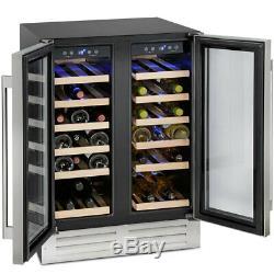 Freestanding Montpellier 38 Bottle DualZone Wine Cooler in Stainless Steel