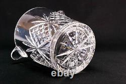 GALWAY Large Wine Bottle Cooler Champagne Ice Bucket in Cut Crystal Glass