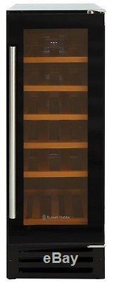 Grade 3 Russell Hobbs Black Glass 18 Bottle Integrated Wine Cooler RHBI18WC1