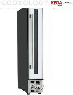 Graded Cookology CWC150WH 15cm Wine Cooler in White Glass, 7 Bottle Cabinet