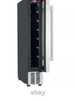 Graded Cookology CWC150WH 15cm Wine Cooler in White Glass, 7 Bottle Cabinet 1