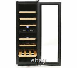 Gradedhusky Wine Cooler 21 Bottles Hus-cn215 Black & Silver