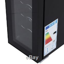 HOMCOM 12 Bottle Wine Cooler Fridge Refrigerator Mini Bar Touch Control 11-18°C