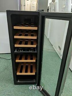 HUSKY HUS-CN215 Drinks & Wine Cooler Holds 21 Bottles Black & Stainless Steel