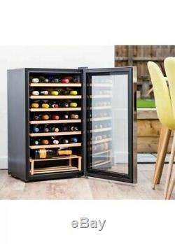 HUSKY Reflections HUS-HN12 Wine Cooler Black 42db 187kwh GLASS Fridge 34 Bottles