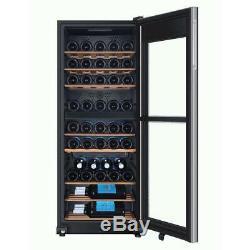 Haier Black Commercial 53 Bottle Wine Cooler Bar Restaurant Dual Zone UV Glass