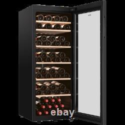 Haier HWS84GNF Free Standing F Wine Cooler Fits 84 Bottles Black New from AO