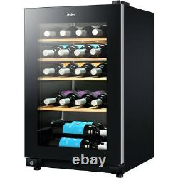 Haier WS30GA Free Standing A Wine Cooler Fits 30 Bottles Black New from AO