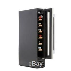 Hoover HWCB15 Integrated/Freestanding 7 Bottle Black Glass Wine Cooler (150mm)