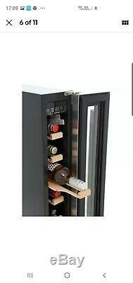Hoover HWCB15UK Wine Cooler Integrated 7 Bottle Single Zone 15cm Black