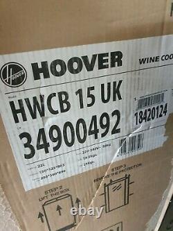 Hoover HWCB15UK Wine Cooler Integrated 7 Bottle Single Zone 15cm Black new