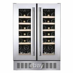 Hoover HWCB60DDUKSSM 60cm 38 bottle wine cooler in Stainless Steel